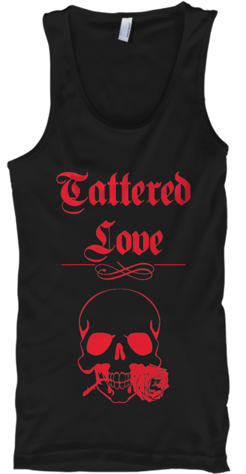 Tattered %0 A Love Black Tank Top Front
