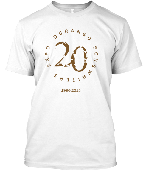 Help Us Celebrate 20 Years Of Expos! White T-Shirt Front