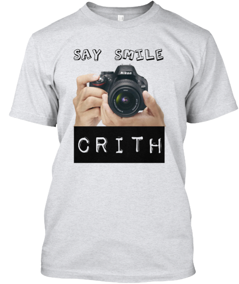 Say Smile Crith Ash T-Shirt Front