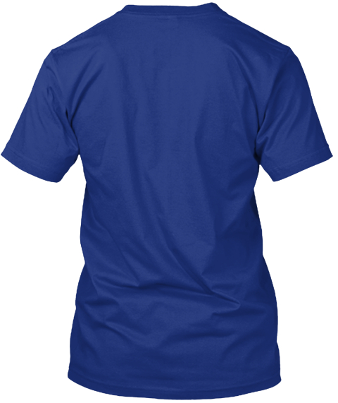 I Survived The Winter Of 2014 Deep Royal T-Shirt Back