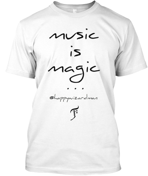 Music Is Magic White T-Shirt Front