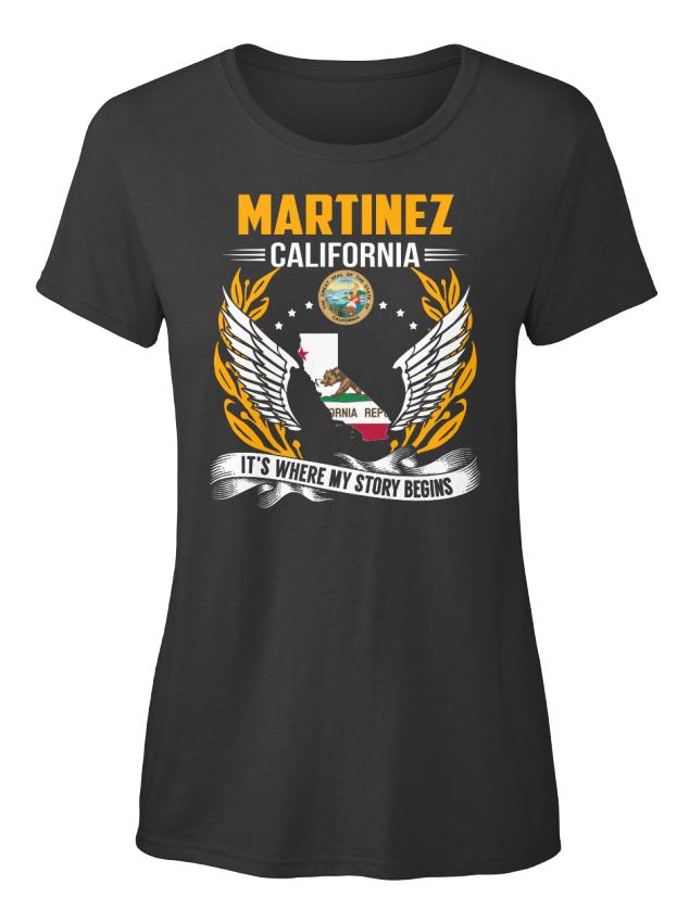 Martinez-California-My-Story-Begins-Martinez-It-039-s-Standard-Women-039-s-T-Shirt