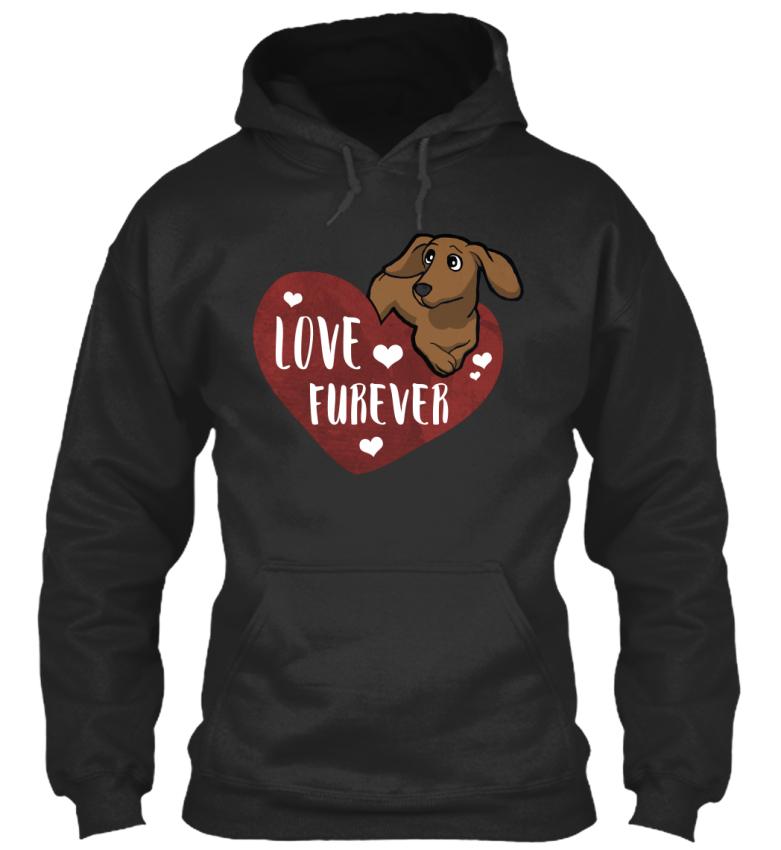 Love-Furever-Dachshund-Standard-College-Hoodie