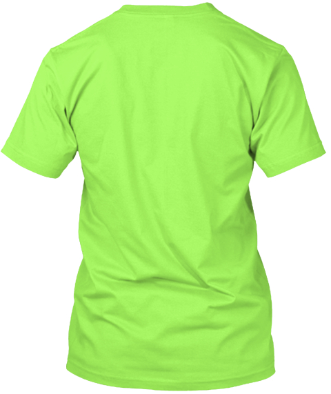 Support Korie Howard And Be Korie Strong Lime T-Shirt Back