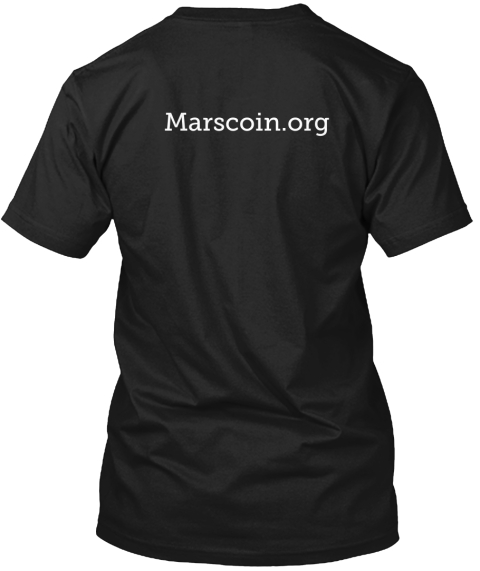 Marscoin.Org Black T-Shirt Back