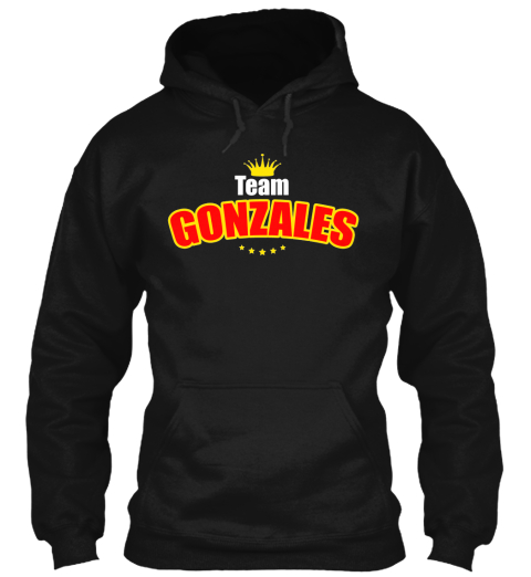 Team Gonzales (Limited Edition) Black T-Shirt Front