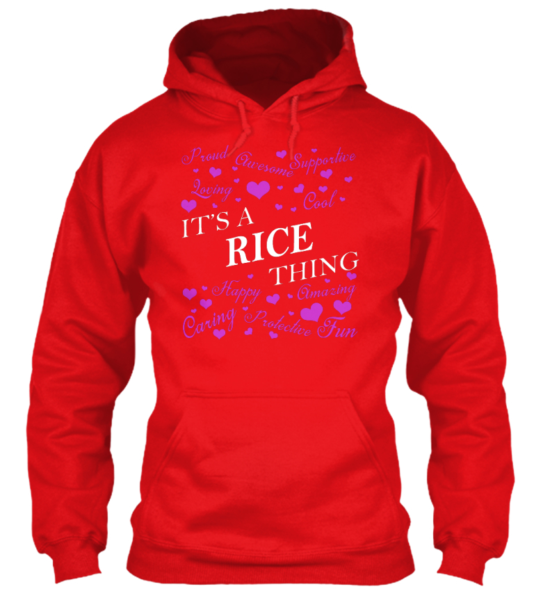 Its A Rice Rice Rice Thing - It's Happy Caring Amazing Protective Standard College Hoodie | Neue Sorten werden eingeführt