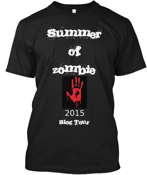 Summer Of Zombie 2015 Blog Tour Black T-Shirt Front