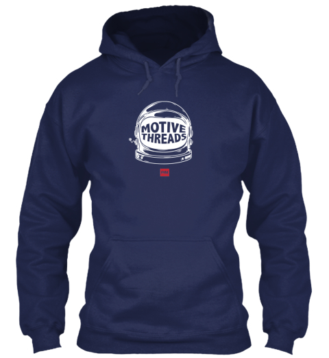 Motive Space Hoodie Blue Navy Sweatshirt Front