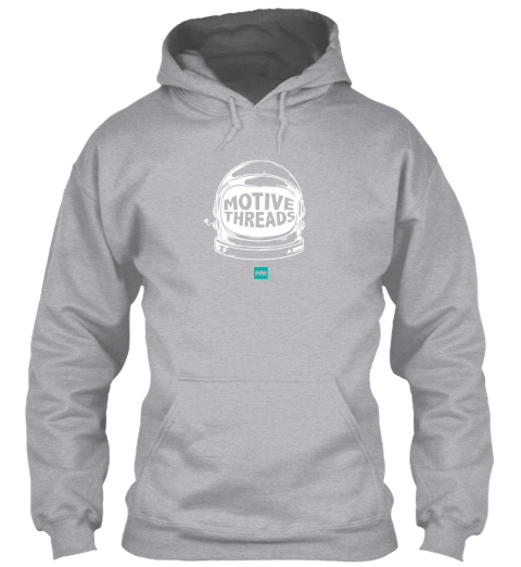 Motive Space Hoodie Grey Sport Grey Sweatshirt Front