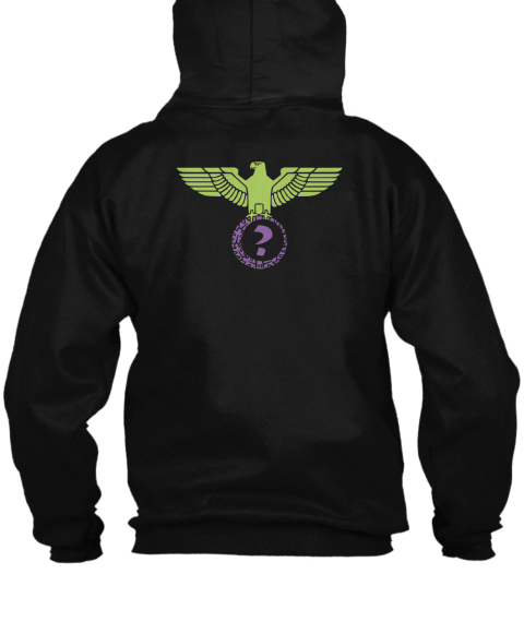 Robby Suavé Eagle Hooded Sweatshirt Black Sweatshirt Back
