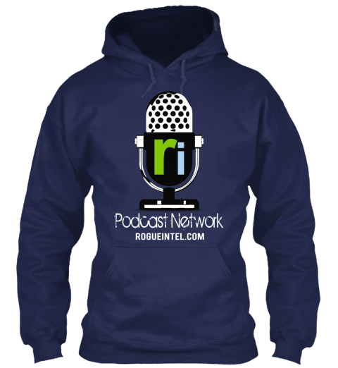 Podcast Network Rogueintel.Com Navy Sweatshirt Front