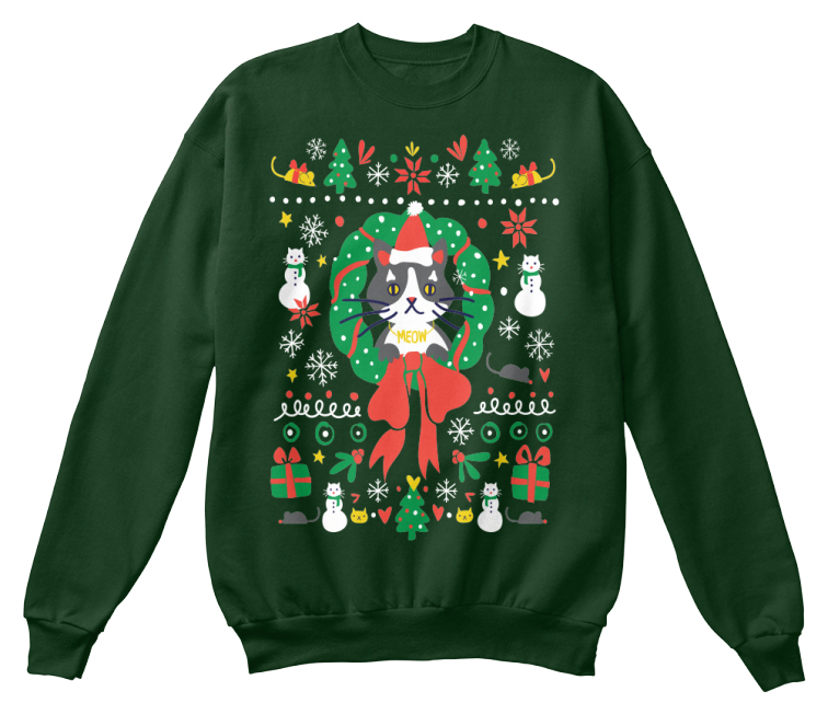 Ugly Christmas Sweater -- Kitty Style!: Teespring Campaign