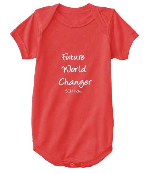 Future World Changer Sch India  Red T-Shirt Front