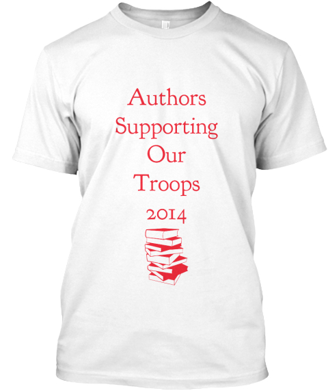 Authors %0 A Supporting  %0 A Our %0 A Troops %0 A2014 White T-Shirt Front
