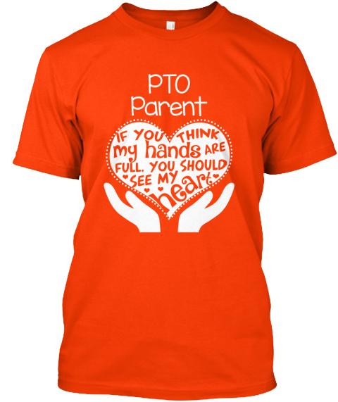 Pto parent full heart t shirt from full hands full heart for Full hand t shirts for womens