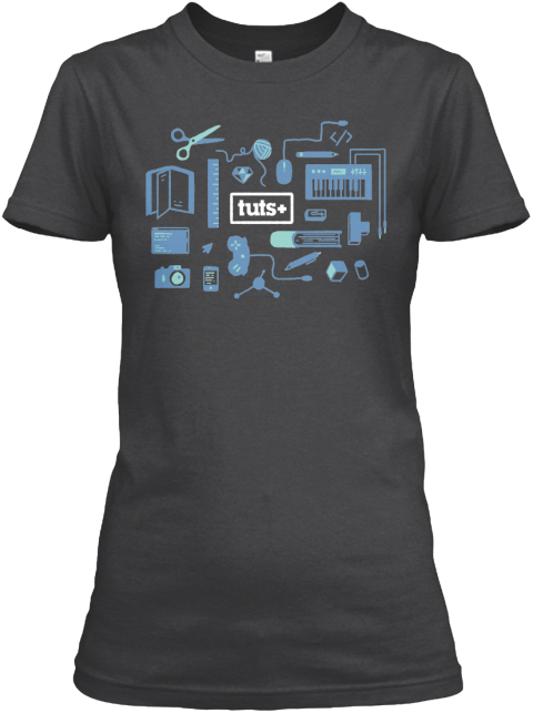 Limited Edition Tuts+ Tees! Dark Grey Heather T-Shirt Front