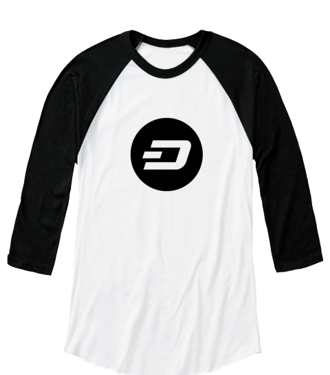 D White/Black  Long Sleeve T-Shirt Front