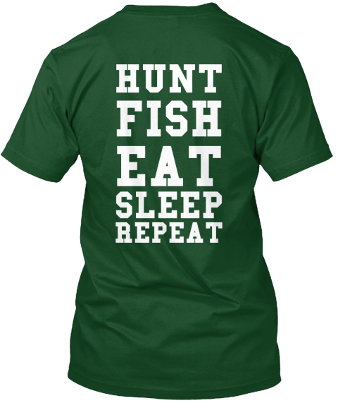 Fish hunt products teespring for Green top hunt fish
