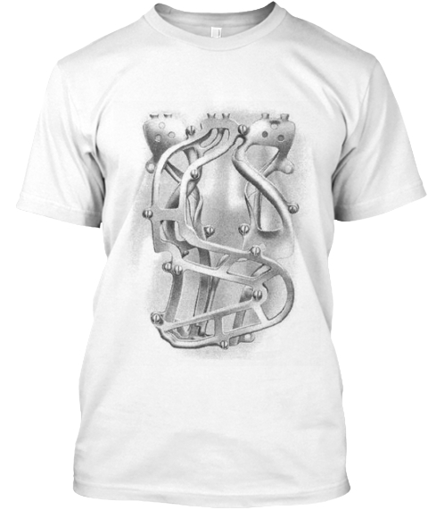 Gray Paystation Coin Shute White T-Shirt Front