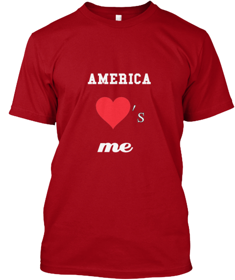 America 's Me Deep Red T-Shirt Front