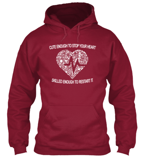 Cute Enough To Stop Your Heart Cardinal T-Shirt Front