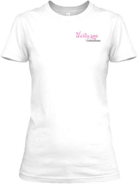 31 Consultant 10th Anniversary Love White Women's T-Shirt Front