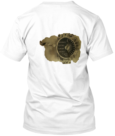 Strowger Automatic Electric Dial White T-Shirt Back