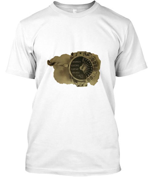 Strowger Automatic Electric Dial White T-Shirt Front