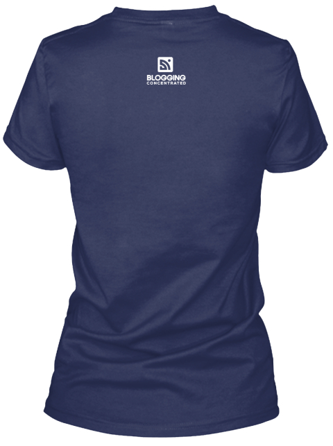 Blogging Concentrated Navy Women's T-Shirt Back