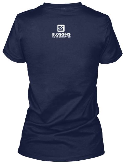 Bc January Shirt Of The Month Deep Navy T-Shirt Back