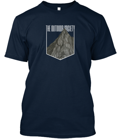 The Mountain By The Outdoor Society New Navy T-Shirt Front