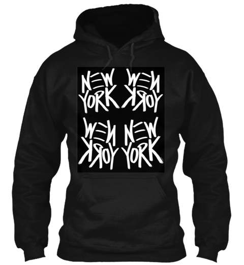 New York Perspective Black T-Shirt Front