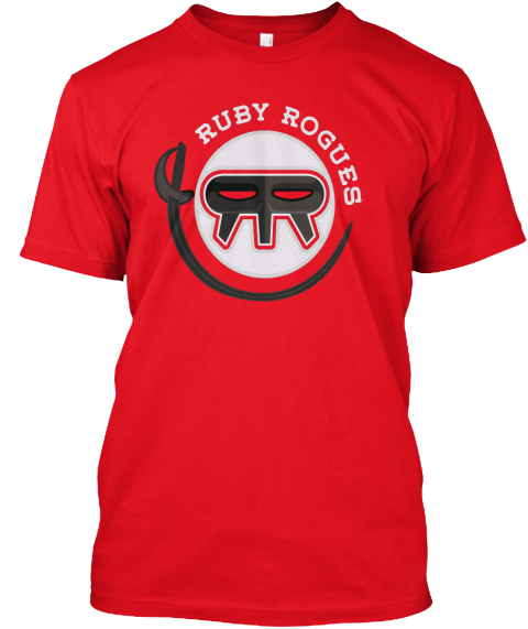 Ruby Rogues  Red T-Shirt Front