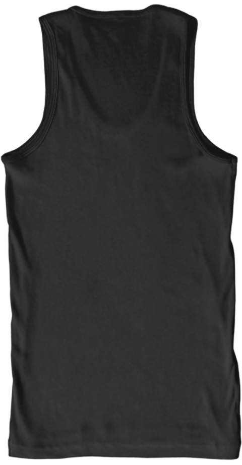 3 Seconds Flat Black Tank Top Back