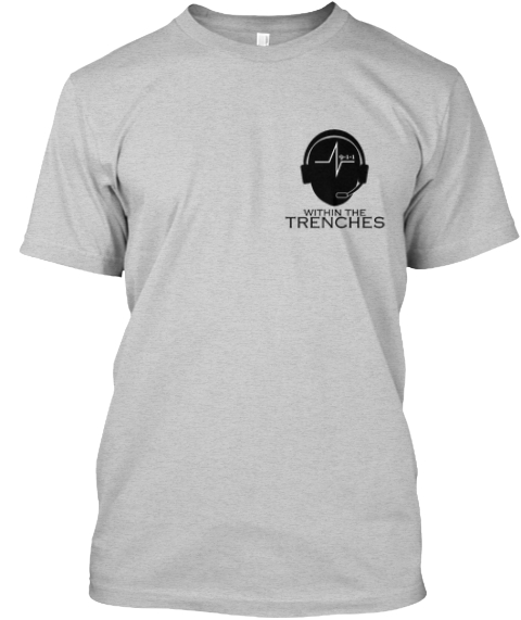 Limited Edition Within The Trenches Tees Light Steel T-Shirt Front