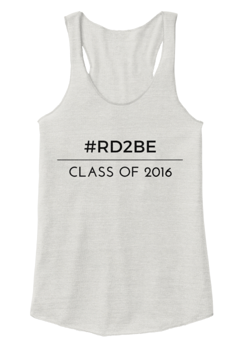 Future Dietitian Class Of 2016!! Eco Ivory  Women's Tank Top Front