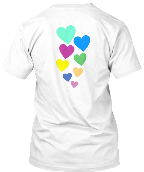 Periscope Love! Tap Tap Tap Hearts! White T-Shirt Back