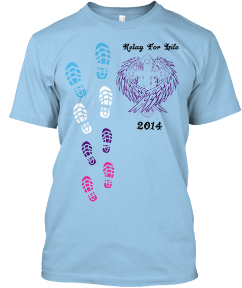 Team hope relay for life 2014 t shirts teespring for Relay for life t shirt designs