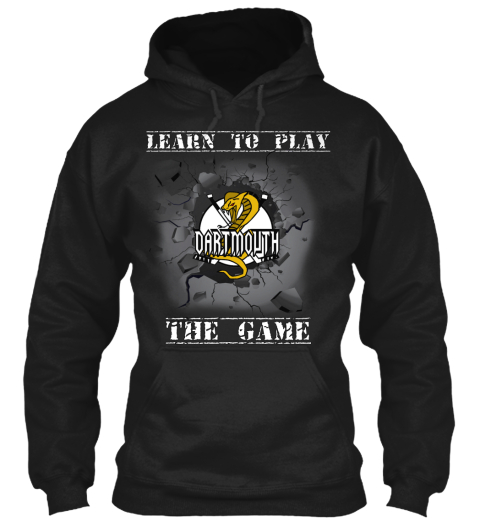 Learn To Play The Game Black Sweatshirt Front