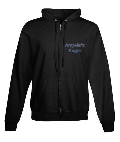 Angela's Eagle Black Sweatshirt Front