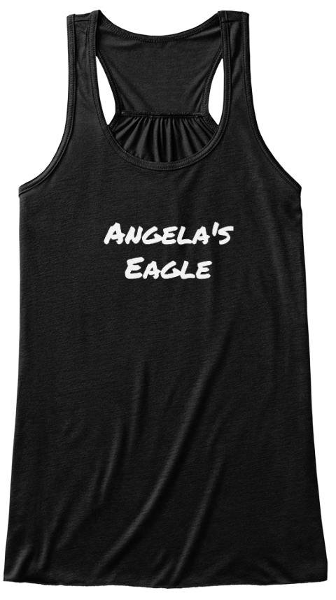 Angela's Eagle Black Women's Tank Top Front