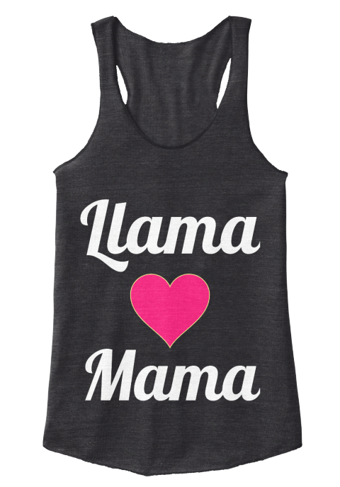 Llama Mama Love One Another Www.Blackberrycreek.Org Eco Black Women's Tank Top Front