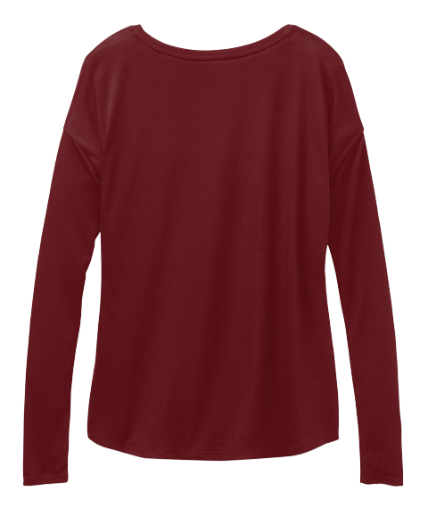 All I Want For Christmas Is Books Maroon Long Sleeve T-Shirt Back