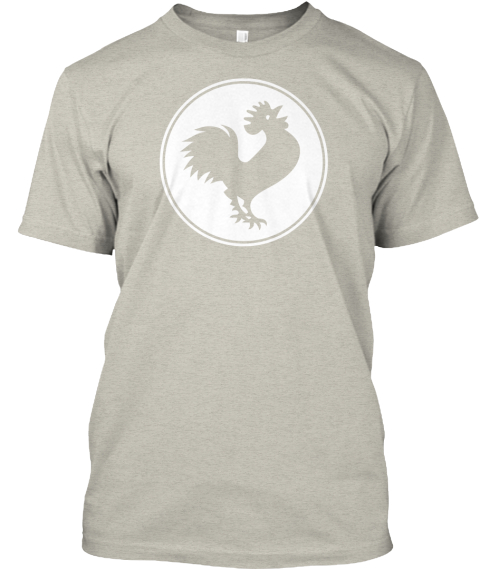 The 2014 Rooster Tee Ash T-Shirt Front