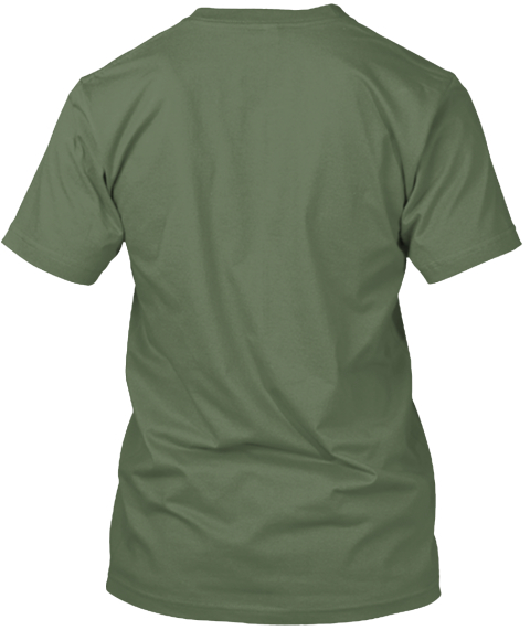 59 National Parks   American Bison Tee Fatigue Green T-Shirt Back