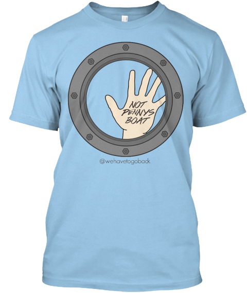 Not Pennys Boat Light Blue T-Shirt Front