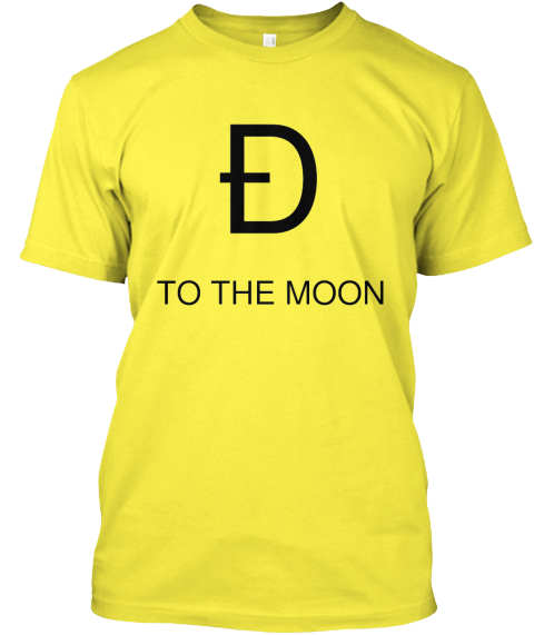 %C3%90 To The Moon Yellow T-Shirt Front