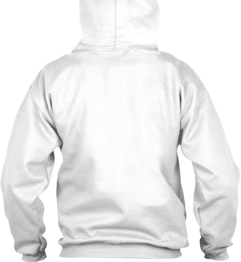 The Yard Shall Rise Hoodie White T-Shirt Back