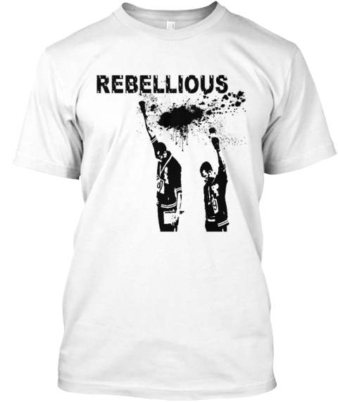 Rebellious White T-Shirt Front